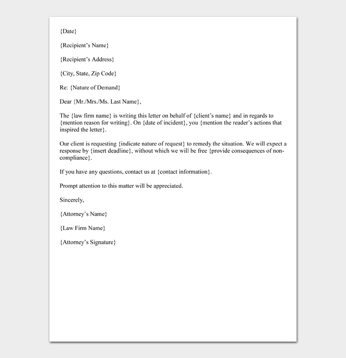 Demand Letter from Attorney (Format)